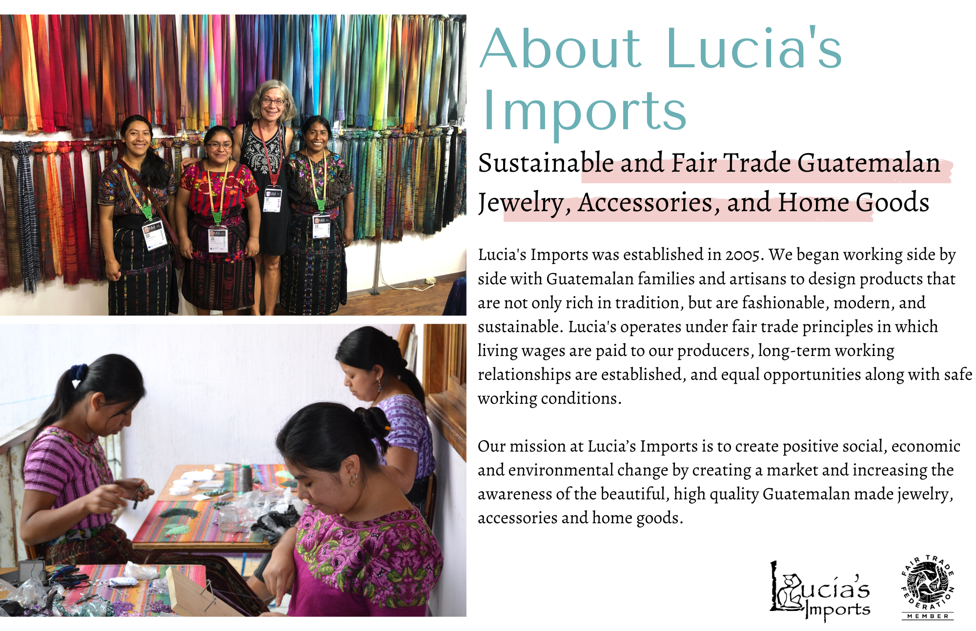 About Lucia's Products