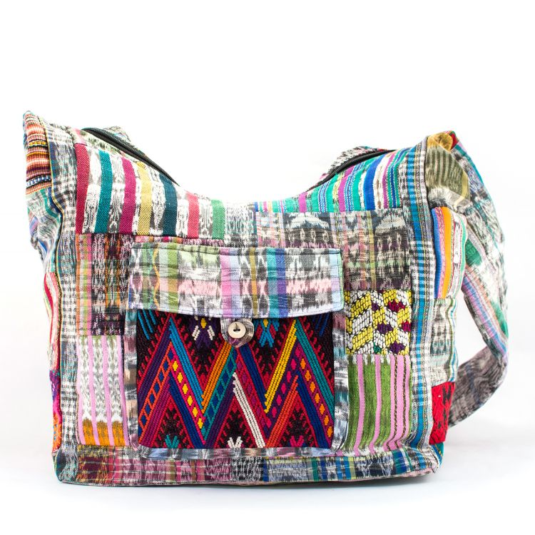 Recycled Patch Huipile Purse