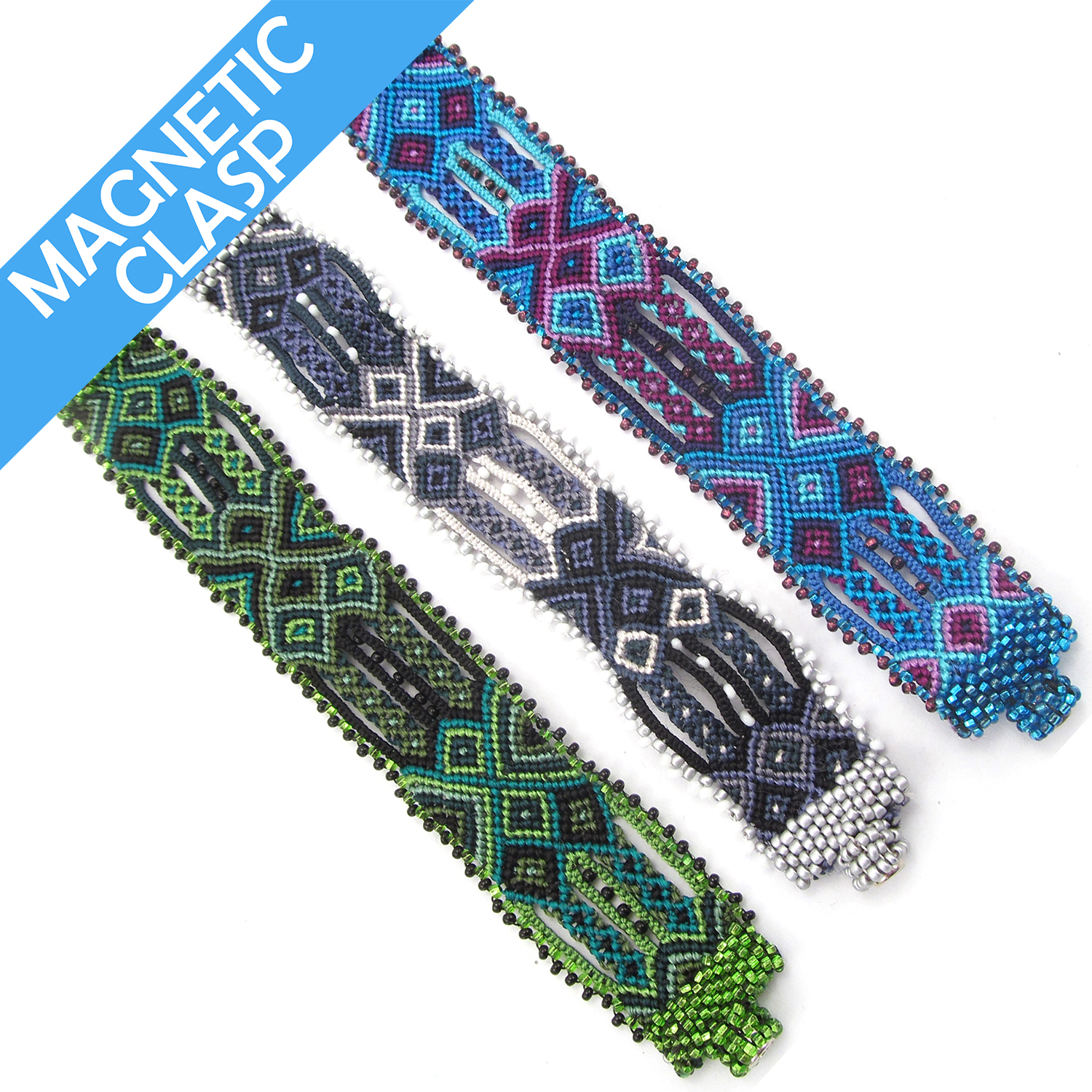 Woven Magnetic Friendship Cuff