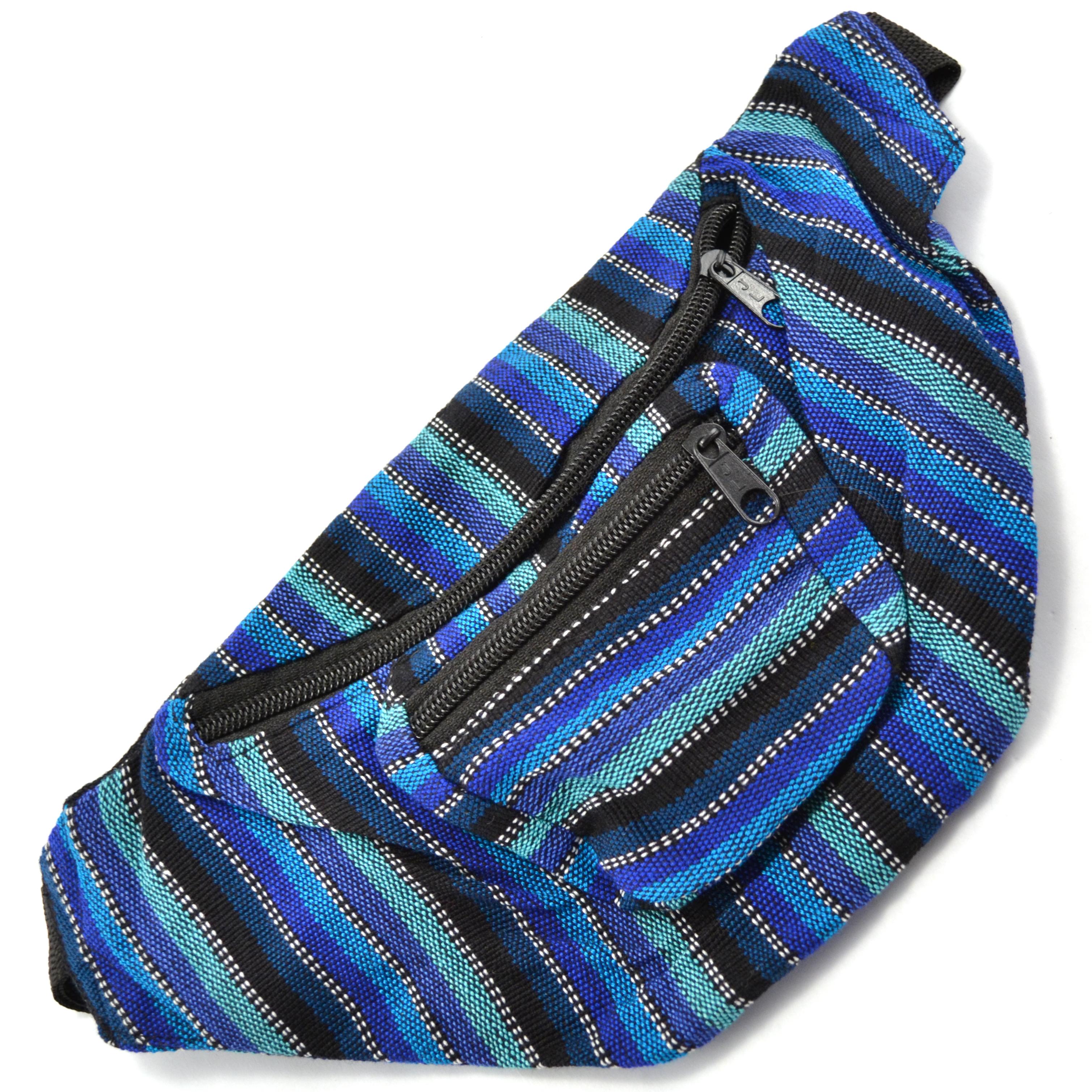 Ikat Fanny Pack Blue
