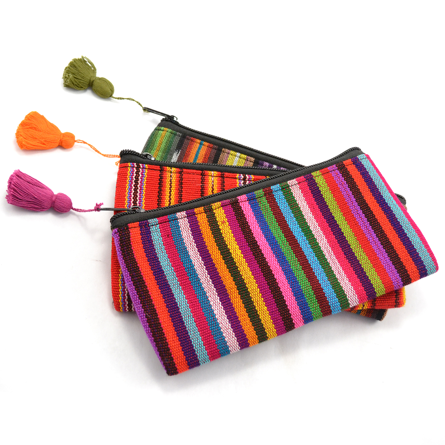 Ikat Cosmetic Bag with Tassel