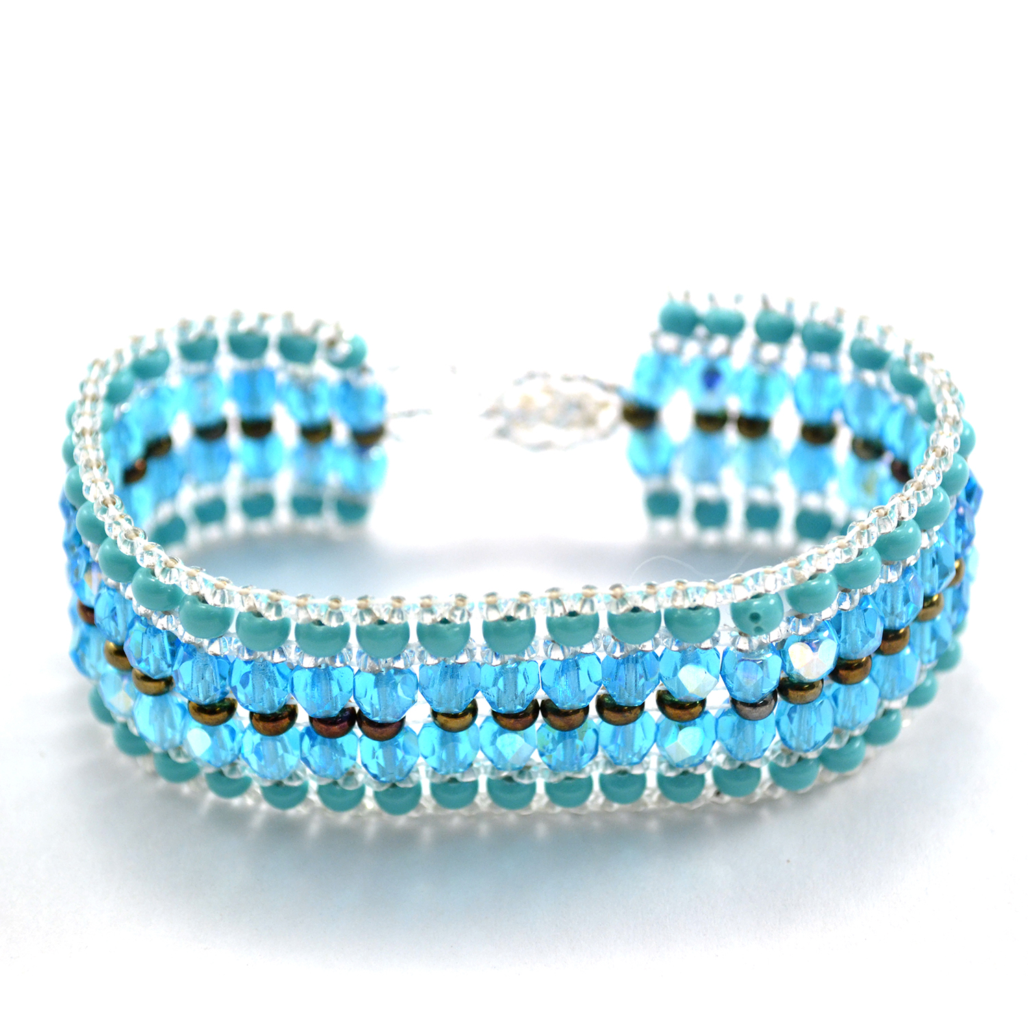 Handmade Guatemalan Fair Trade Stardust Bracelet in sky blue