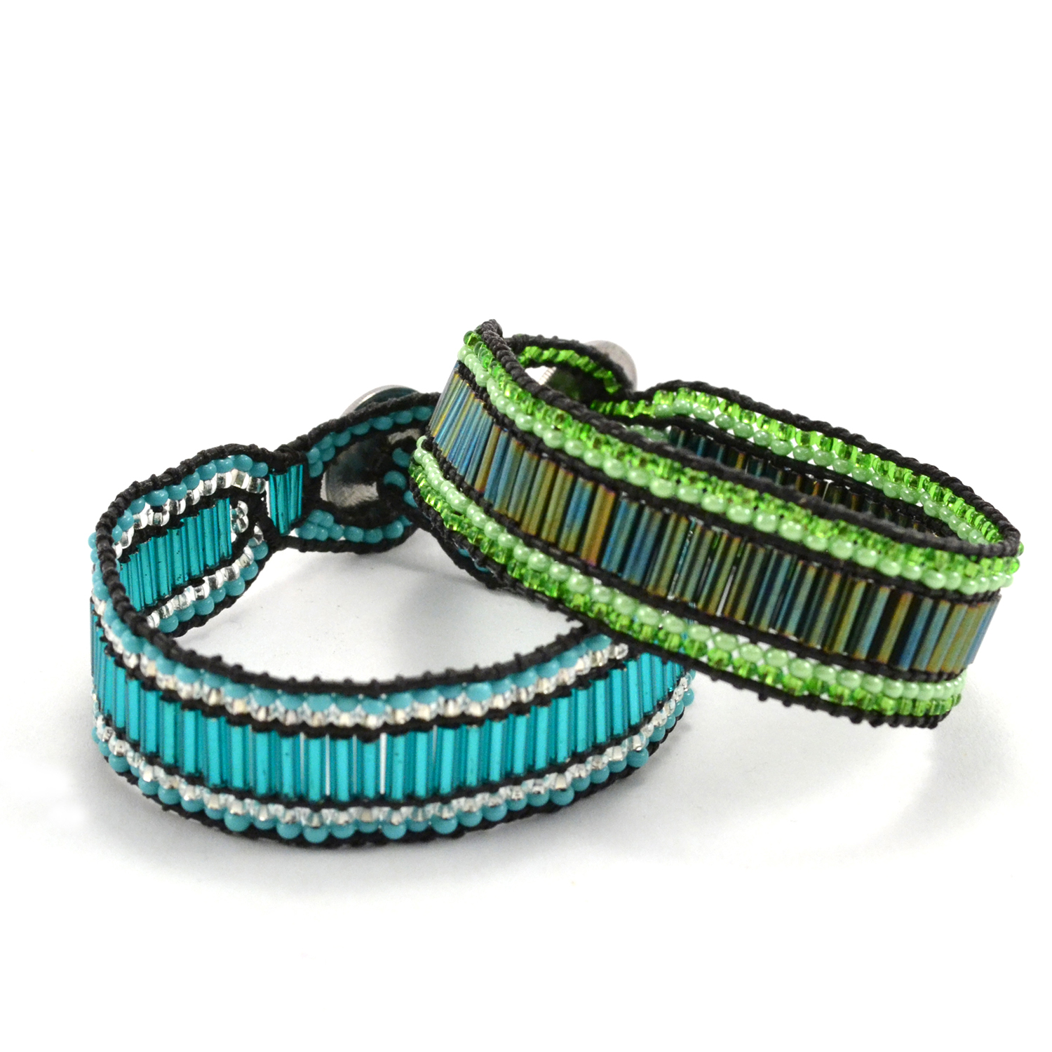 Fair Trade Guatemalan Handmade Jewelery,The Change Cuff Bracelet in turquoise and lime