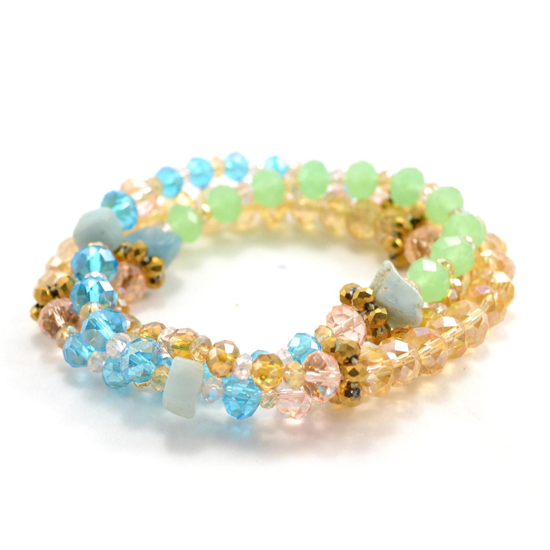 Vintage Crystal Wrap Bracelet in aurora