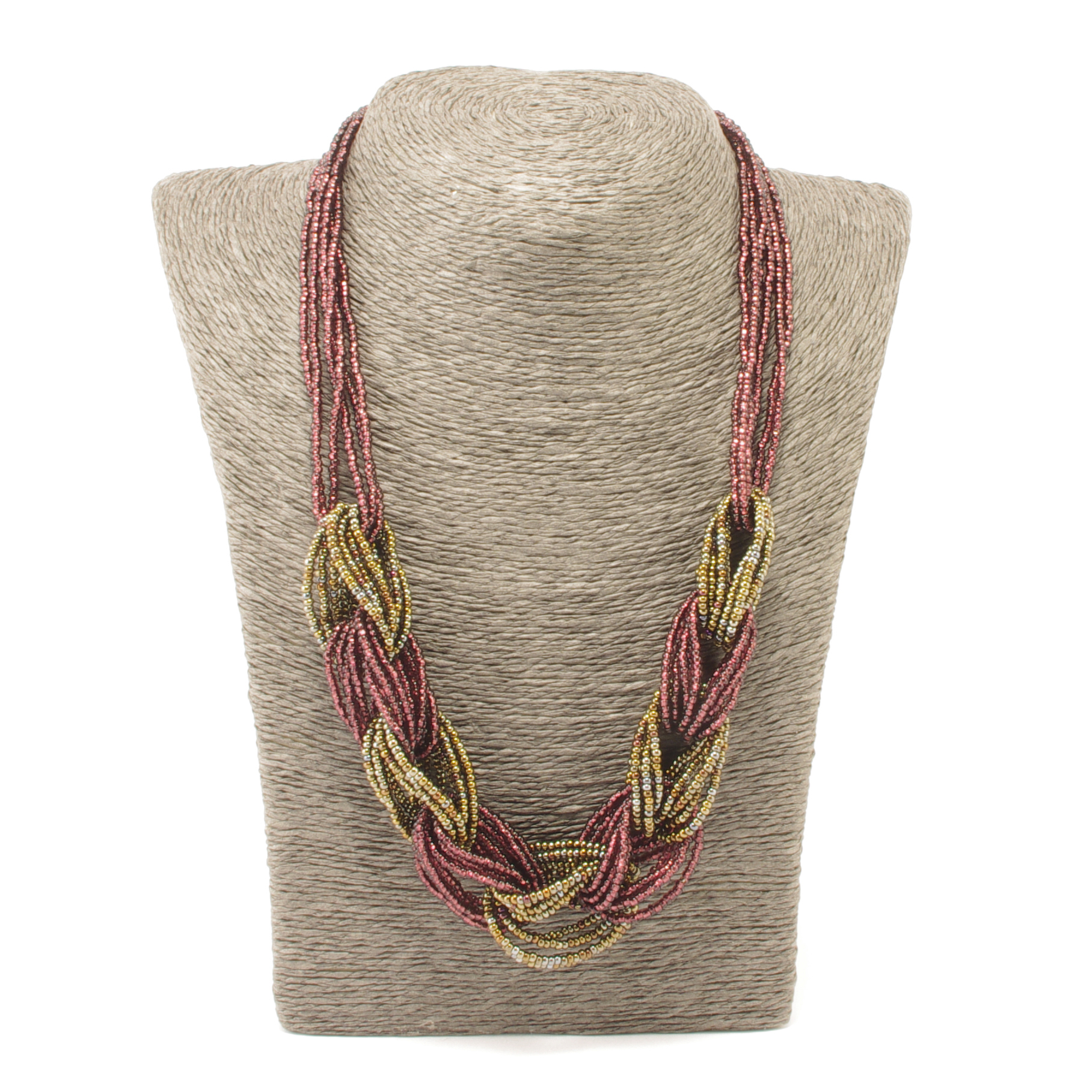 Fair Trade Braided Guatemalan Lily Necklace