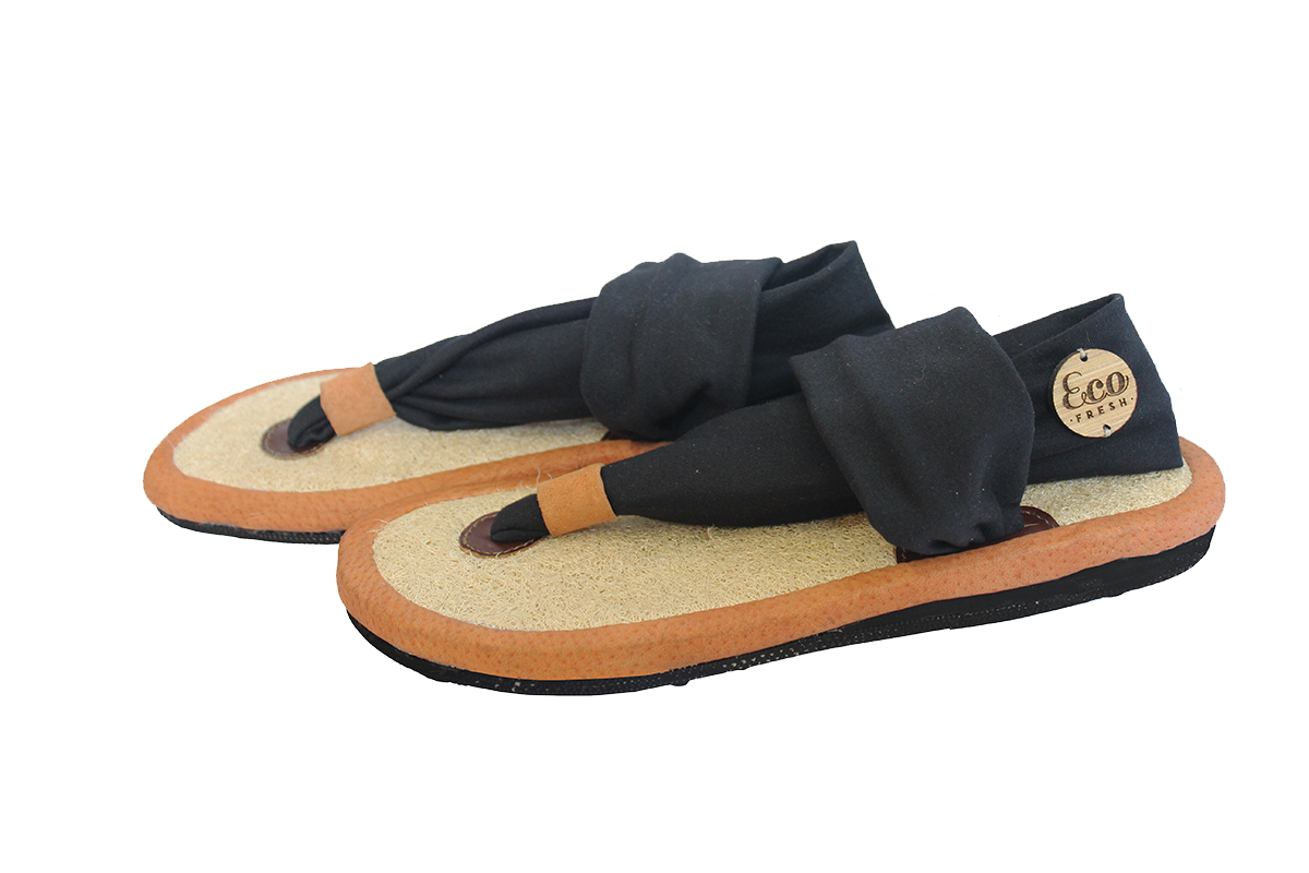 Onyx Black Eco-Friendly Sandal