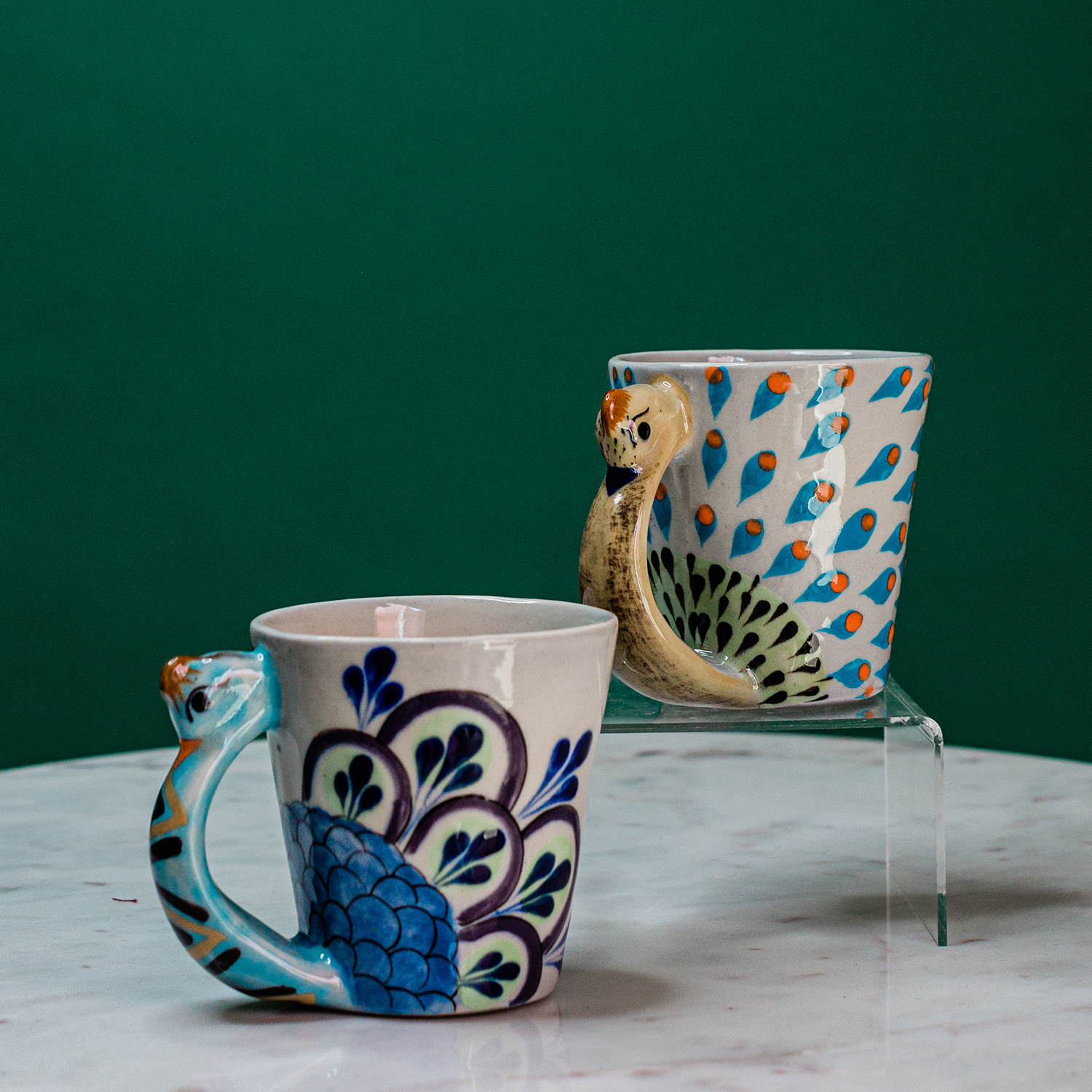 Pavo Real Coffee Mug Home Goods Handmade Guatemalan Imports