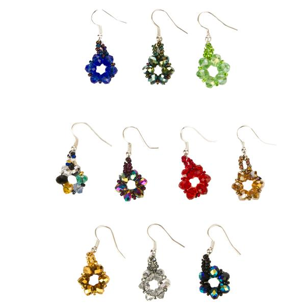 JE-17 Round Crystal Earrings