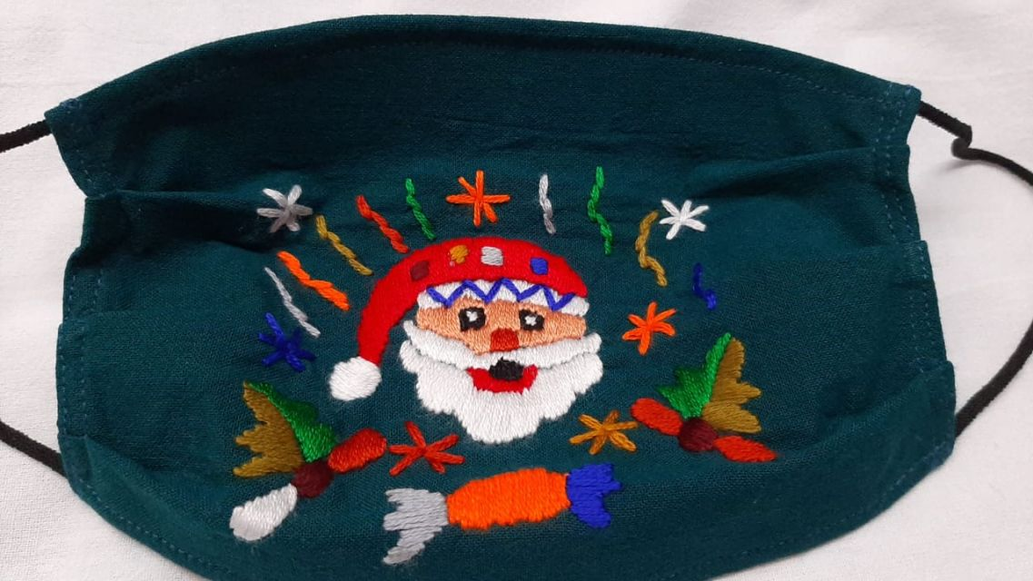 Holiday Face Masks hand embroidered in Guatemala