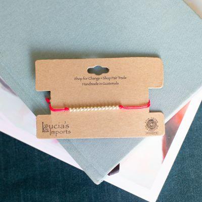 String Bead Charm Bracelet Fair Trade Guatemala