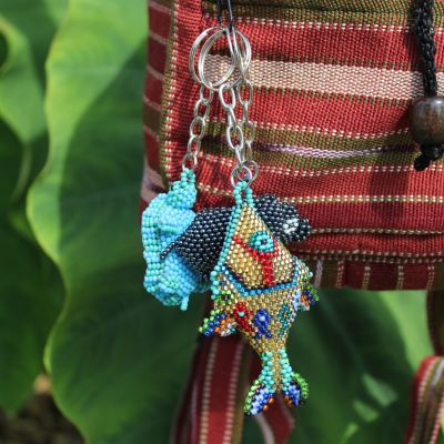 Fair Trade Handmade Guatemalan Beaded Keychain