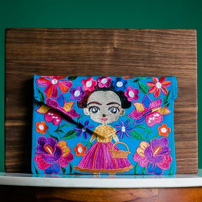 baby frida clutch fair trade handmade guatemalan