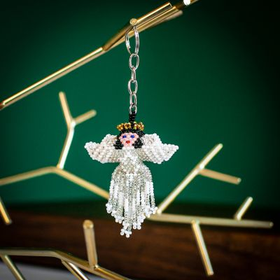 Angel Keychain Hand Beaded Guatemalan Fair Trade