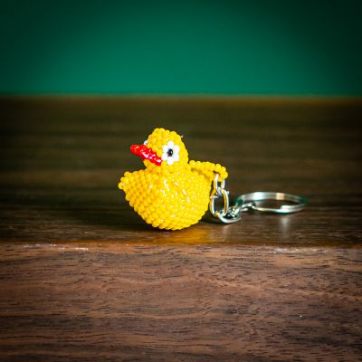 duck keychain fair trade beaded guatemala