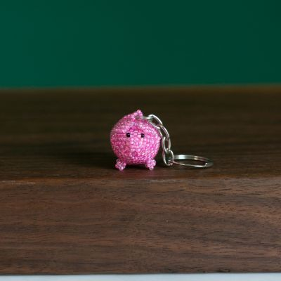 Pig Keychain Handbeaded Fair Trade Guatemala