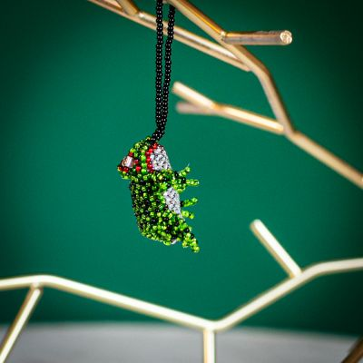 frog fair trade beaded ornament