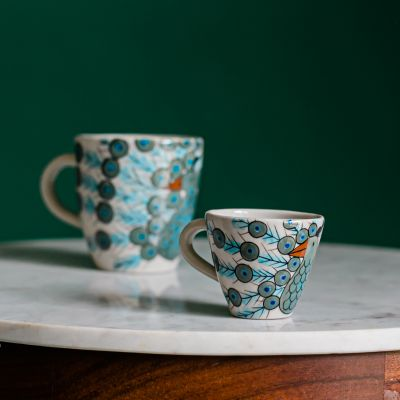 Peacock Espresso Cup Fair Trade