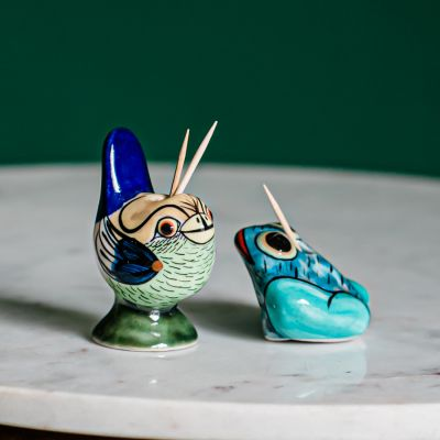 Guatemalan Ceramic toothpick holders from San Antonio Palopo