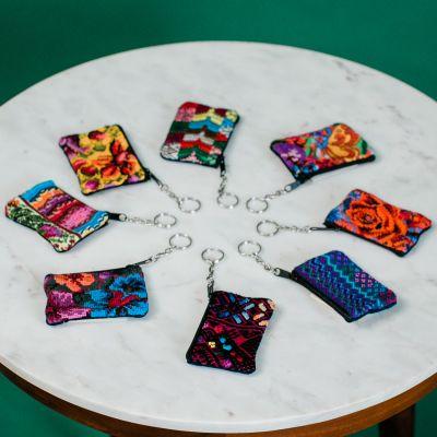 Huipil Keychain Handmade Fair Trade Guatemalan coin bag