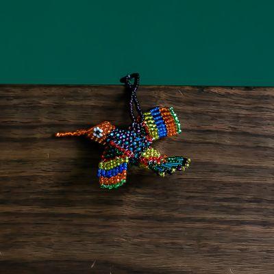 Hummingbird Beaded Guatemalan Ornament