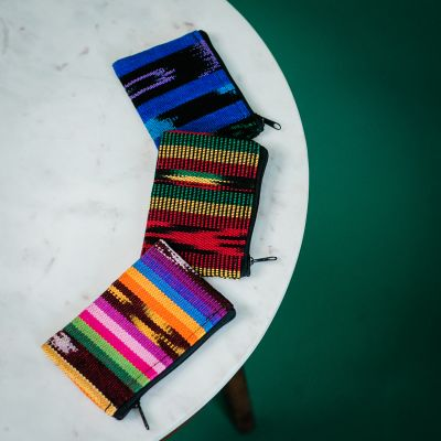 Fair Trade Handmade Guatemalan Ikat Coin Bag