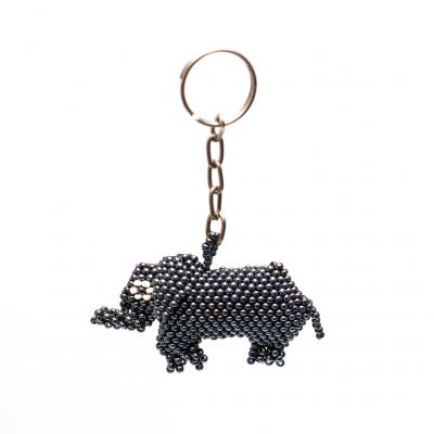 elephant keychain hand beaded fair trade  guatemala