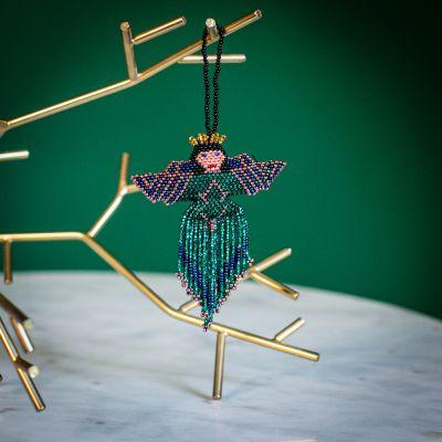 angel multi beaded fair trade ornament handmade guatemalan