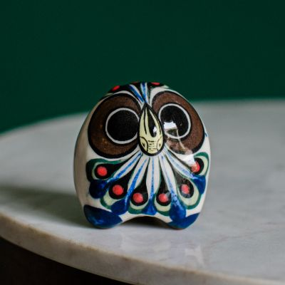 Guatemalan fair trade ceramic owl