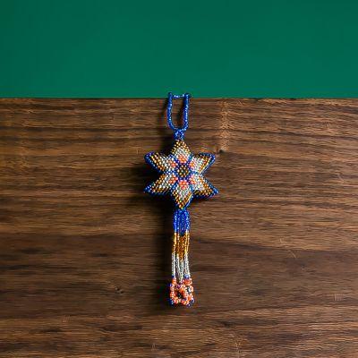 Multi Star Beaded fair trade beaded ornament