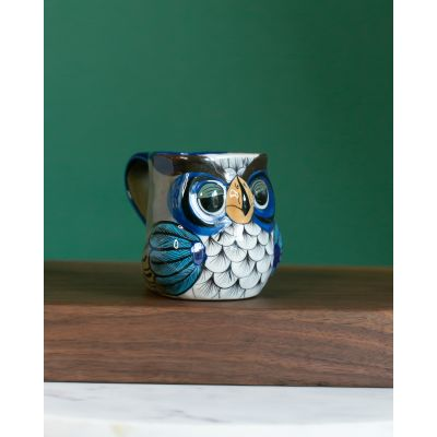 Fair Trade Handmade Guatemalan Ceramic Owl Mug