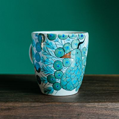 Guatemalan Fair Trade  Peacock Coffee Mug