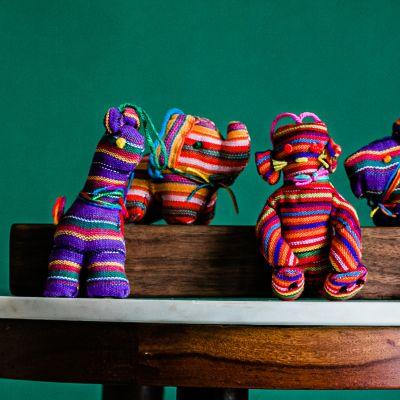 Guatemalan fabric ornaments elephant