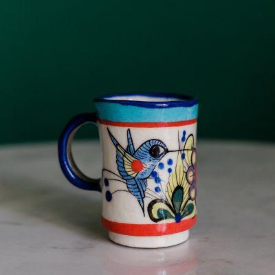 wild bird espresso cup handmade fair trade in guatemala ken edwards