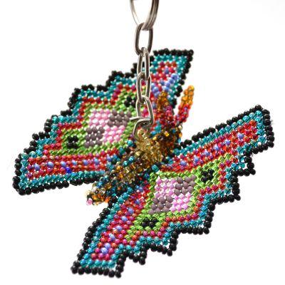 Fair Trade Handmade Guatemalan Butterfly Beaded Keychain