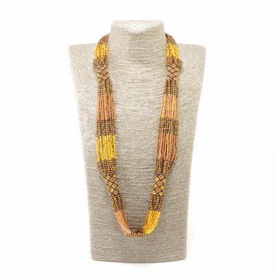 handmade Guatemalan  fair trade beaded necklace