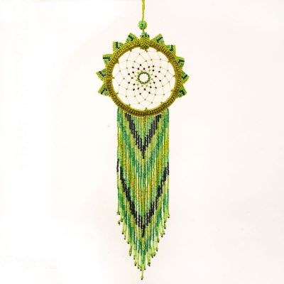 hand beaded Guatemalan dream catcher