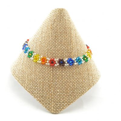 rainbow, pride, fair trade, jewelry, bracelet, Guatemala