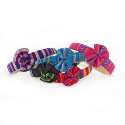 Lucia's Imports Fair Trade Handmade Guatemalan Headband with Bow