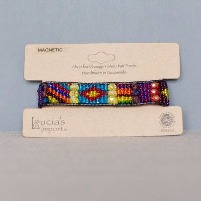 Lucia's World Emporium Handmade Fair Trade Guatemalan Beaded Eros Bracelet in Multi