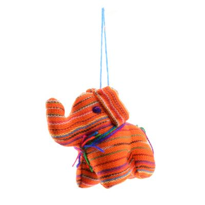 Guatemalan fabric ornaments elephant