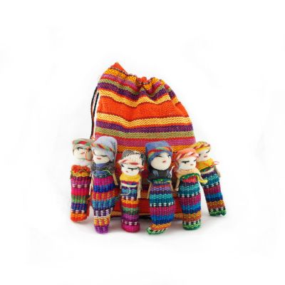 Lucia's Imports Fair Trade Handmade Guatemalan Worry Doll Family