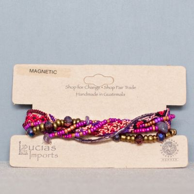 Fair_Trade_Bracelet_Guatemalan_Catalina_Pink_Beaded