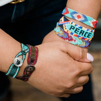 Fair Trade Handmade Guatemalan Peace Beaded Friendship Bracelet