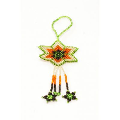 Flat beaded Gautemalan ornamant star