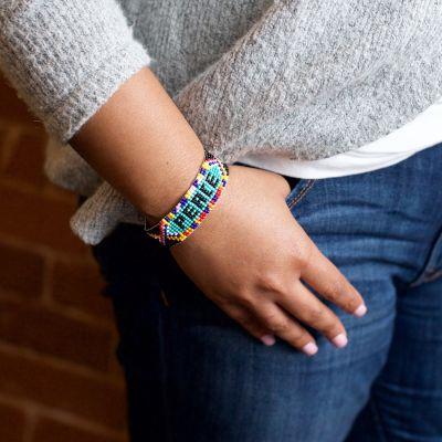Fair Trade Handmade Guatemalan Peace Beaded Friendship Bracelet