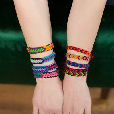 Fair Trade Handmade Guatemalan Cotton Friendship Bracelets