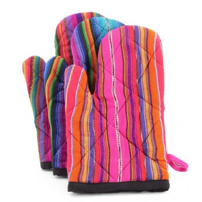 Oven Mitt, Guatemala, Fair Trade, Kitchen, Accessories, Bright, Colorful, Ethical, Handmade, Sustainable