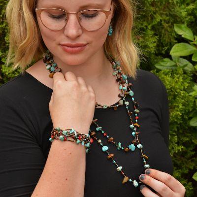 Fair Trade Handmade Beaded Guatemalan Southwest Necklace