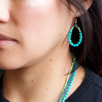 Trio of Hope Guatemalan Hand Made Fair Trade Bead Earrings