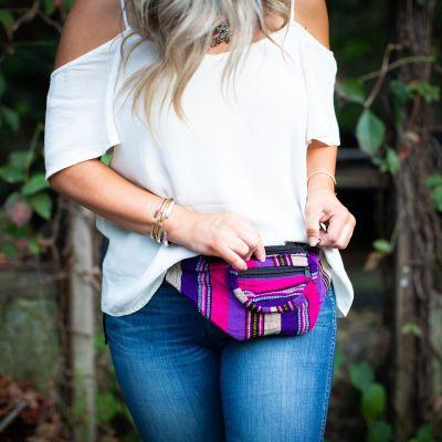 Fair Trade Handmade Guatemalan Ikat Fanny Pack